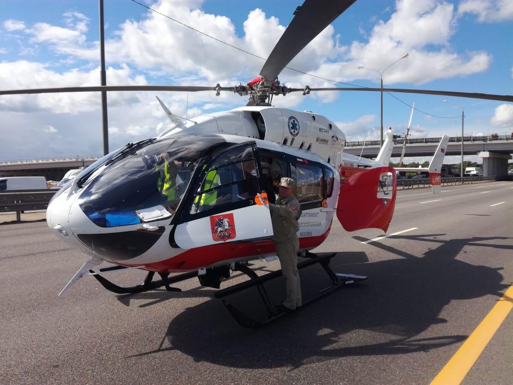 Пострадавших при ДТП в Новой Москве детей госпитализировали вертолетом