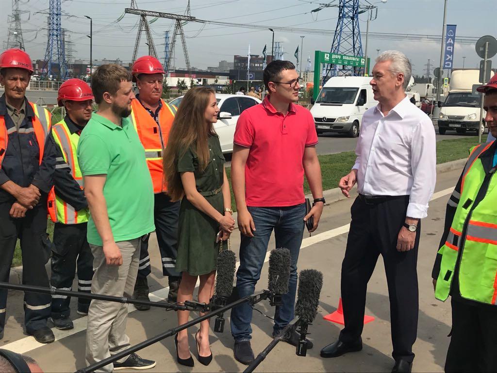 Мэр Москвы Сергей Собянин открыл новый разворотный тоннель на Калужском шоссе