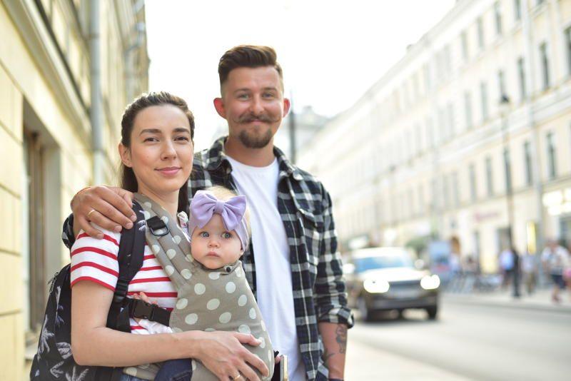 Молодая семья. Фото: Пелагия Замятина, «Вечерняя Москва»