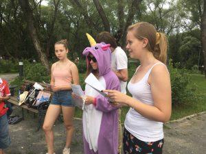 Дети отвечали на вопросы различных уровней сложности. Фото: представители Молодежной палаты Щербинки