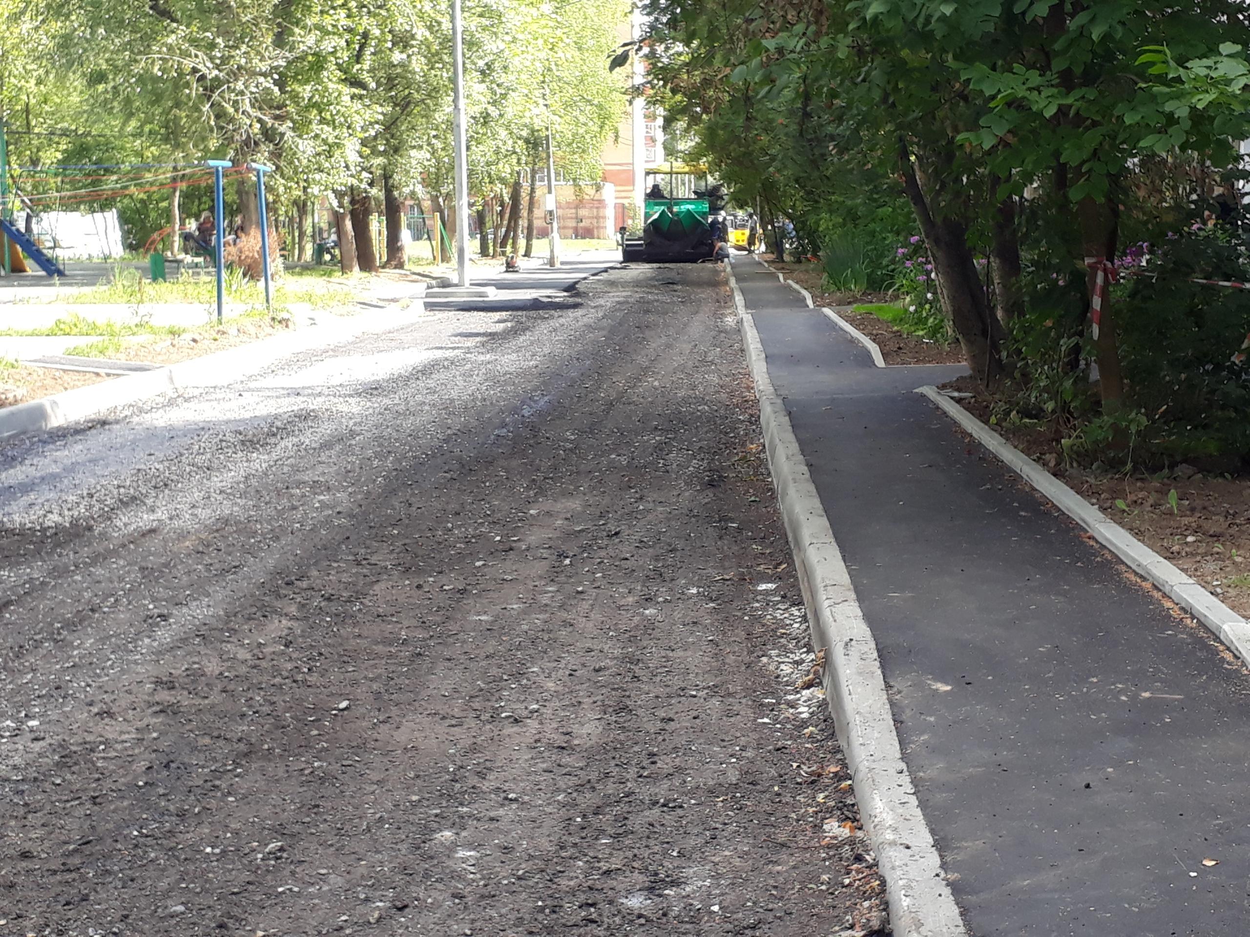 Парковочные места обустроили в поселке Знамя Октября