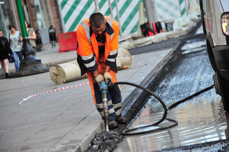 Асфальтное покрытие на дорогах «Мосрентгена» обновили