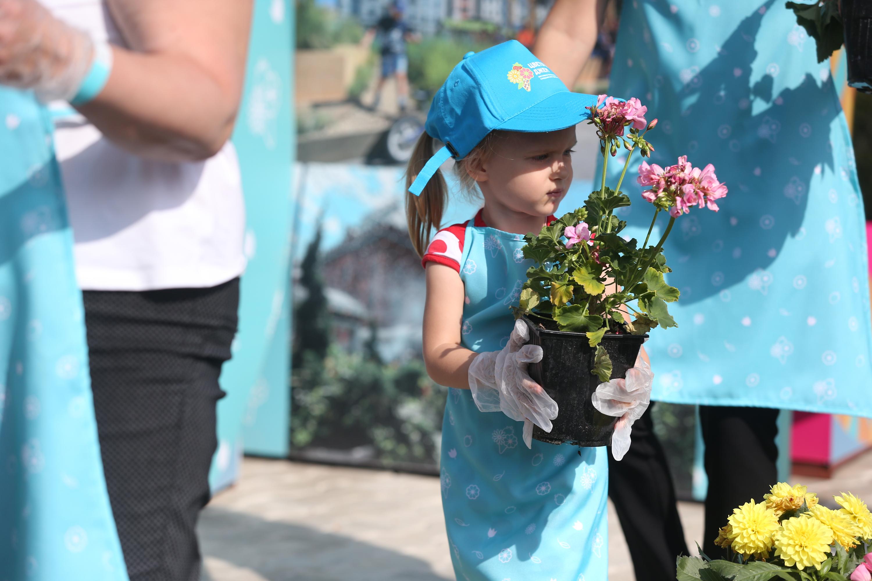 На площадках «Цветочного джема» можно было высадить цветы. Фото: Виктор Хабаров