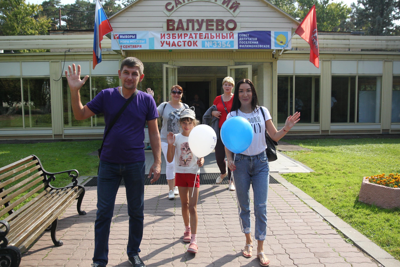 Филимонковское. Семья Лопаткиных проголосовала. Фото: Влажимир Смоляков