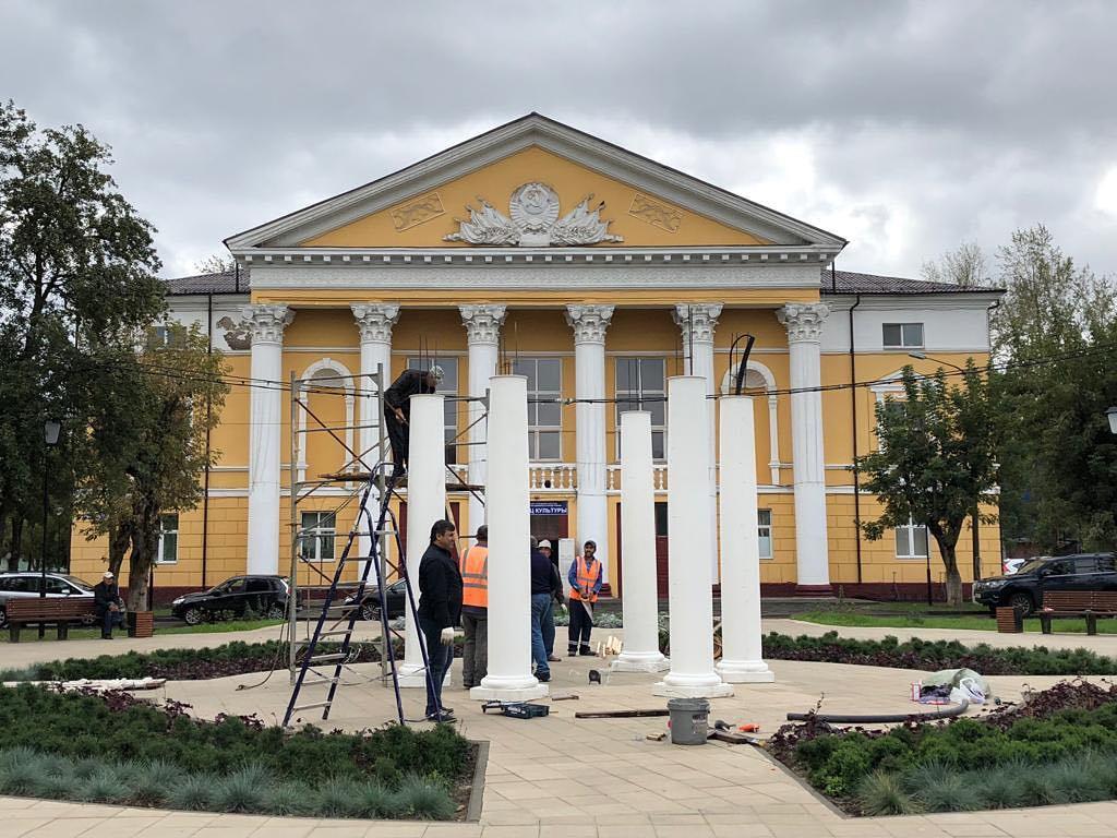 Работы по установке ротонды в Щербинке завершаться к концу сентября. Фото: администрация городского округа Щербинка
