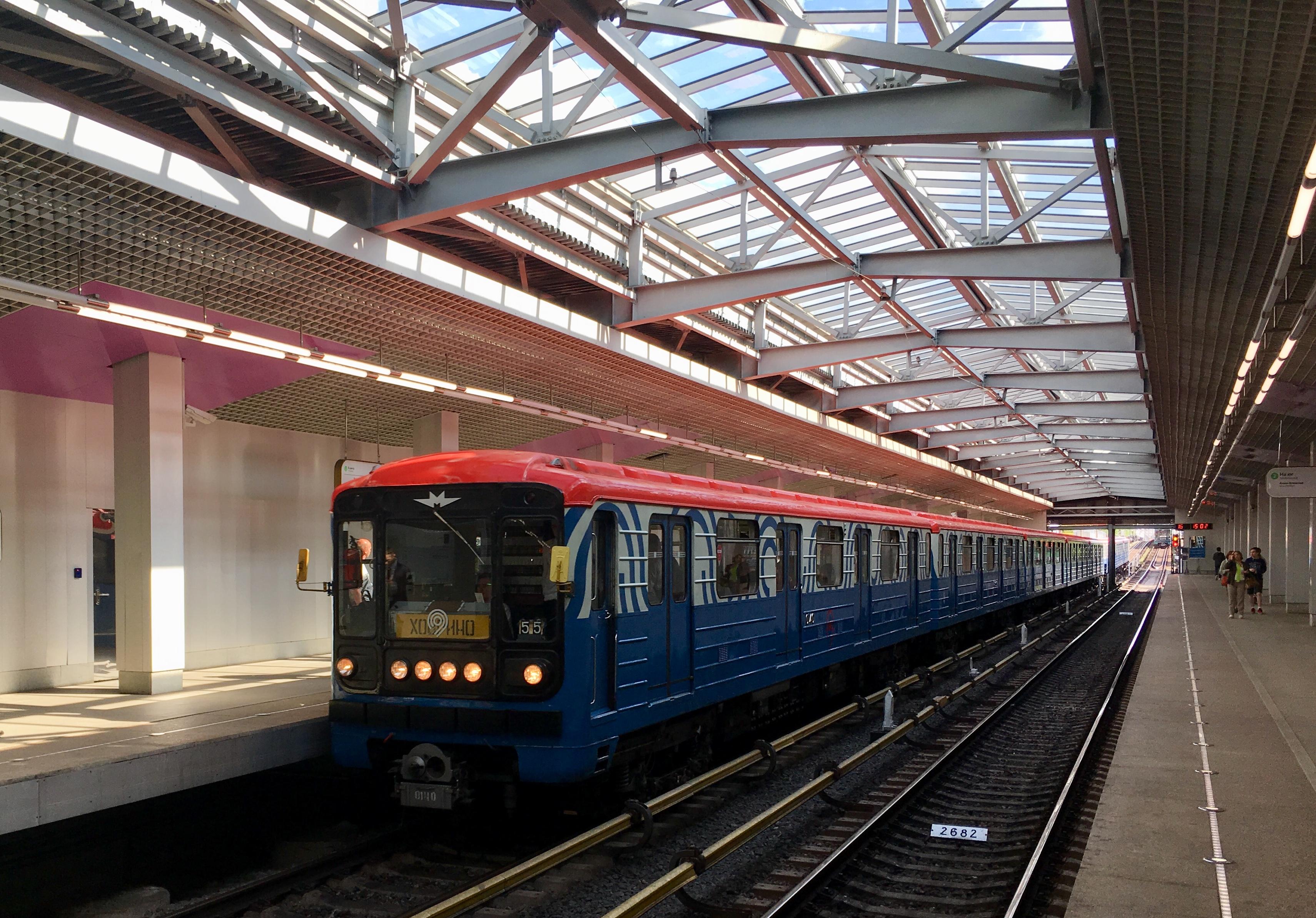 Тематический поезд метро запустили в преддверии Дня города
