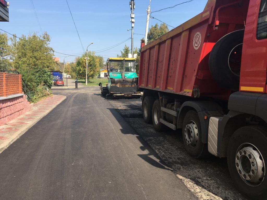 Благоустройство дорог завершили в Мосрентгене