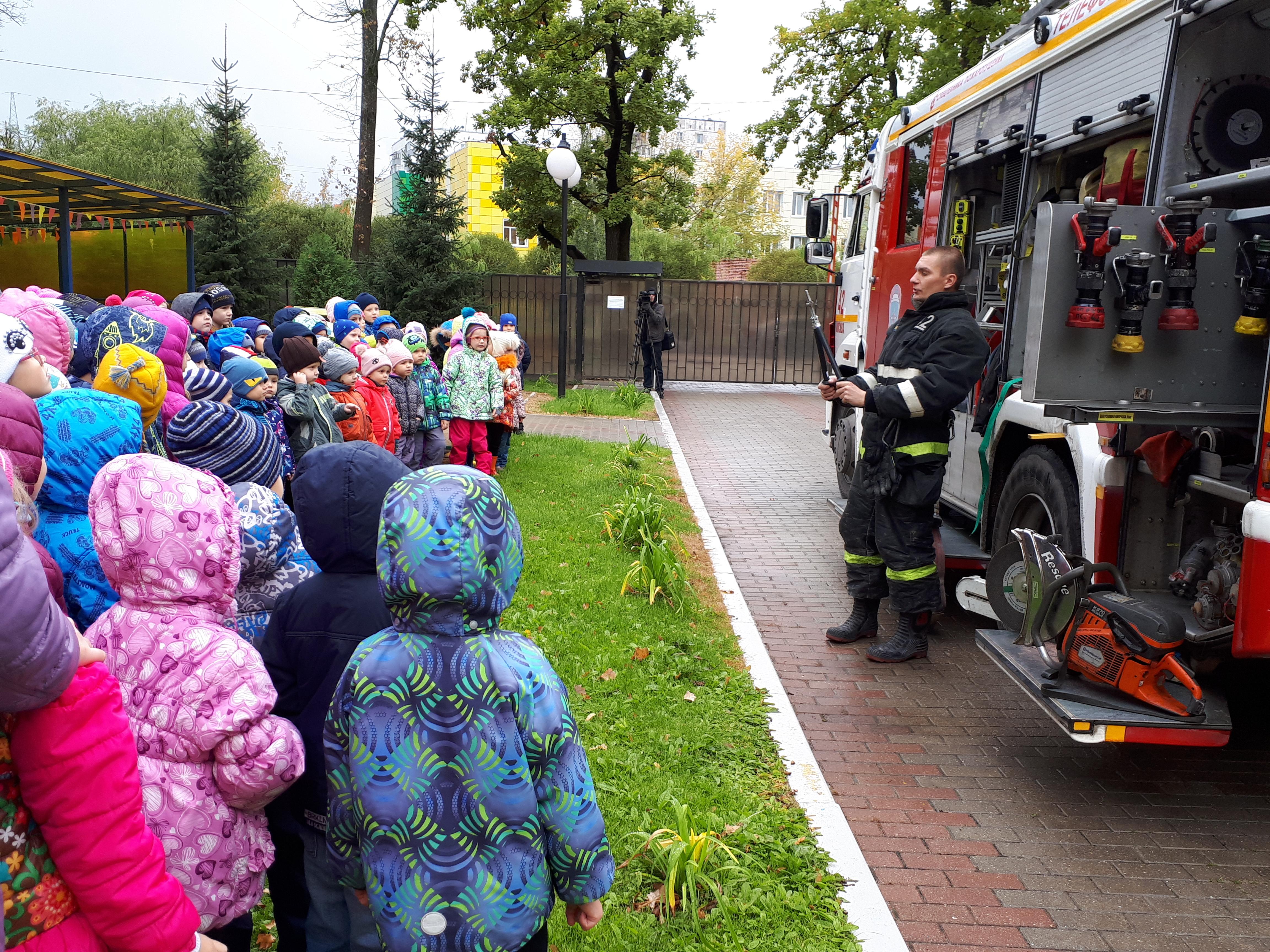 Пожарные Новой Москвы провели выездное мероприятие для дошколят