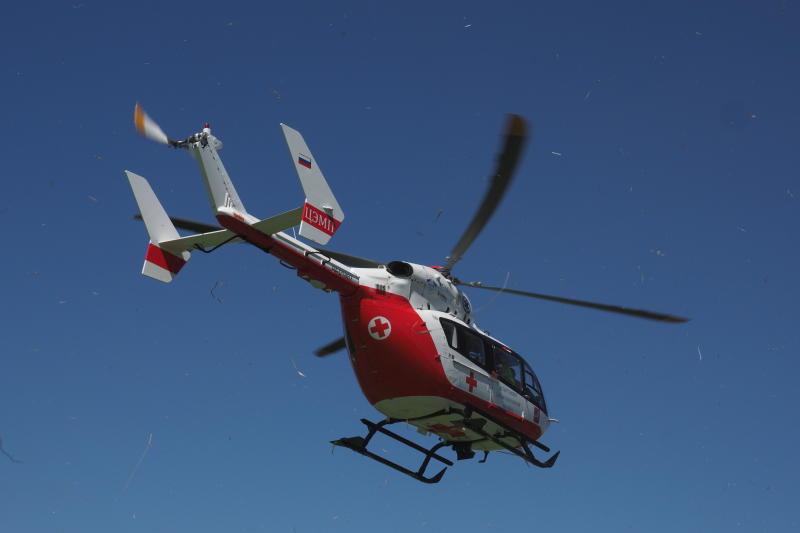 Вертолет эвакуировал пострадавшего в ДТП в Новой Москве