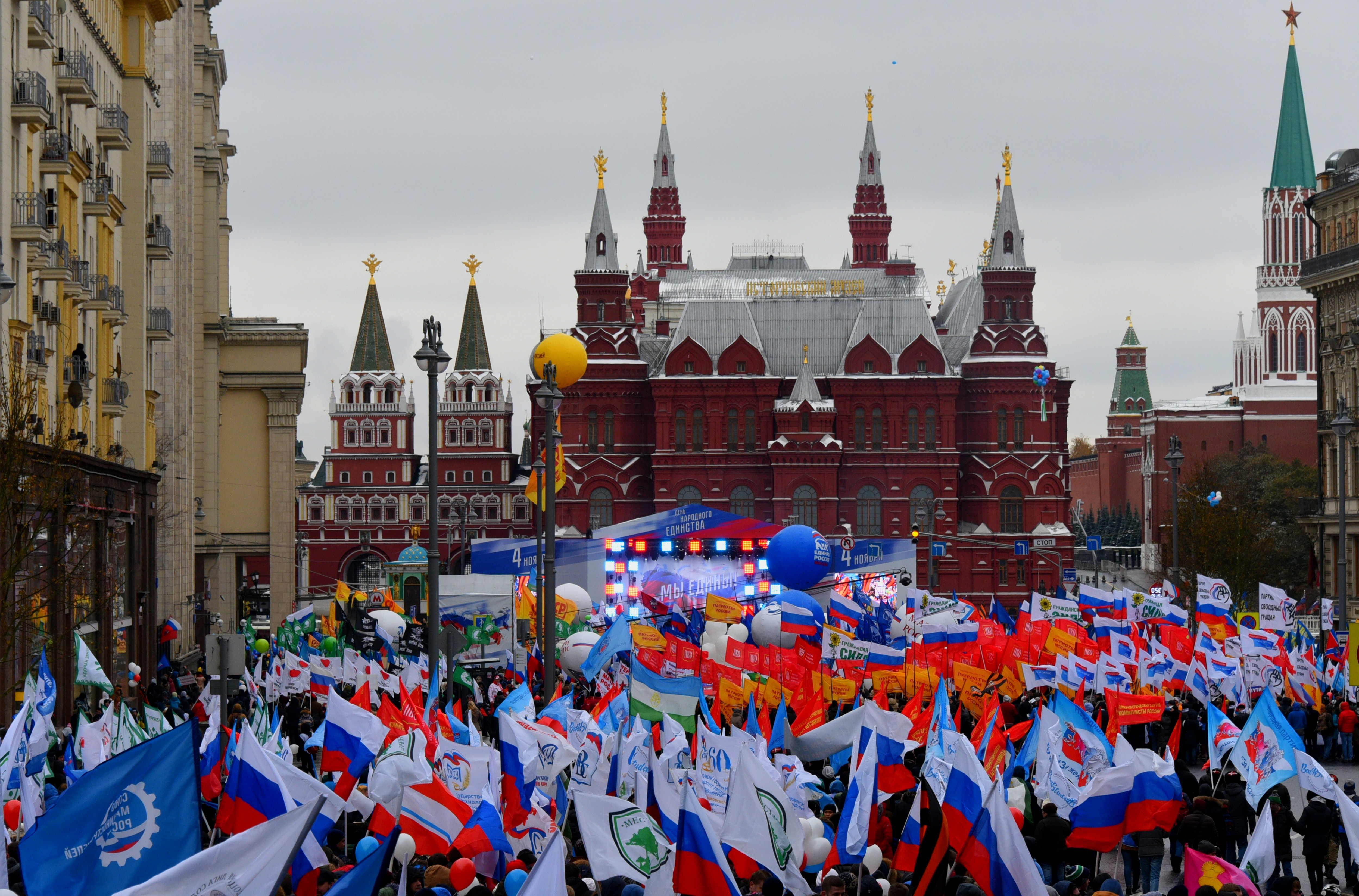 На Красной площади пройдут праздничные гуляния. Фото: Владимир Новиков