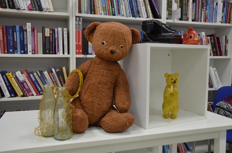 Экспозиция в библиотеке. Фото: Анна Быкова