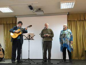На сцене Сергей Крылов и дуэт Ольги и Алексея Черемисовых. Фото: Юлия Панова