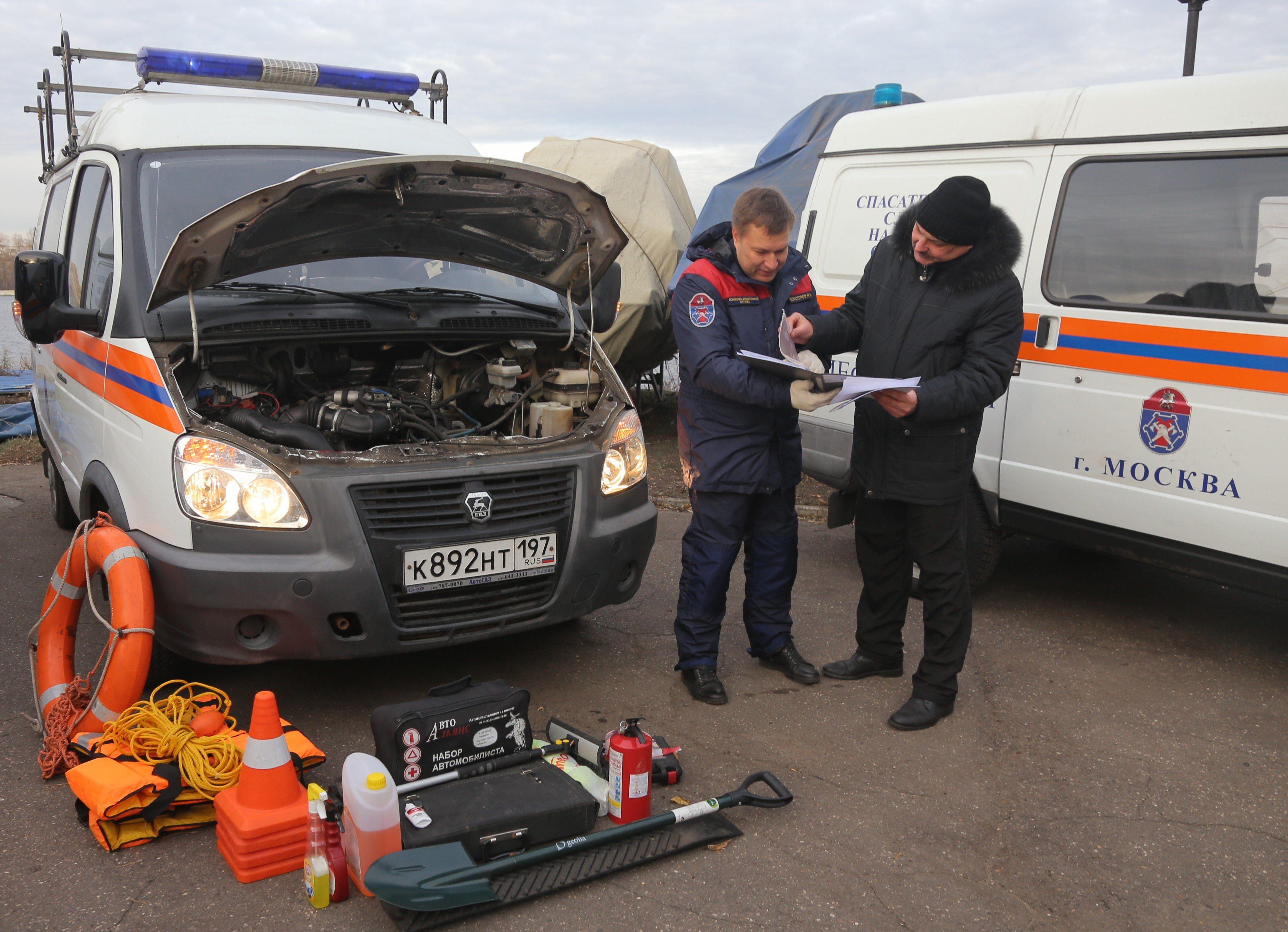 Автопарк водных спасателей Москвы к зиме готов