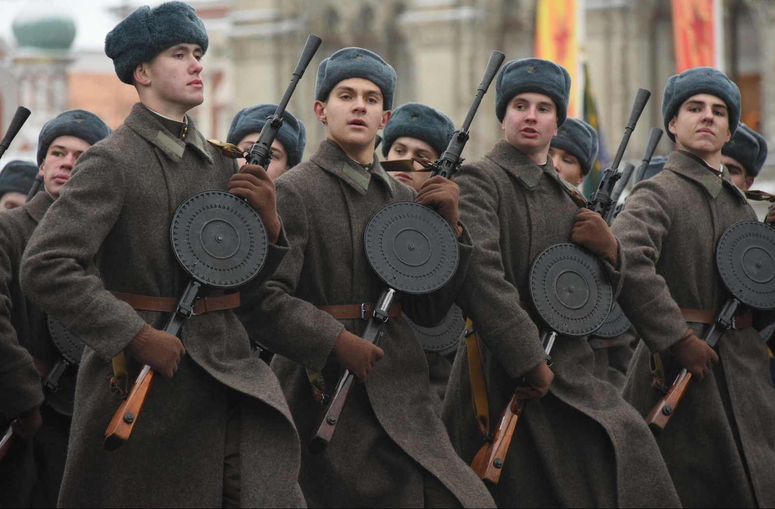 Генеральную репетицию военного парада провели на Красной площади. Фото: Владимир Новиков, «Вечерняя Москва»