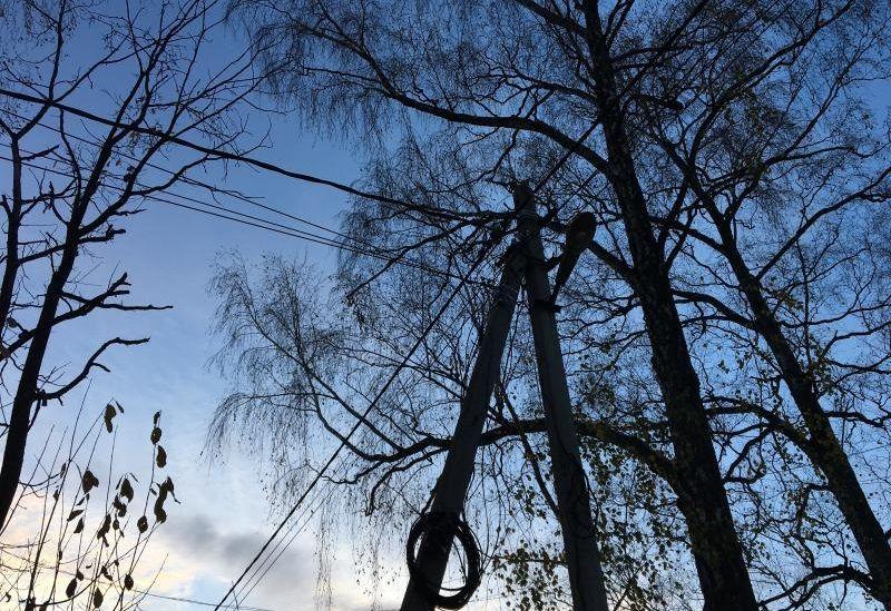 Новые опоры освещения появились в деревне Сенькино-Секерино