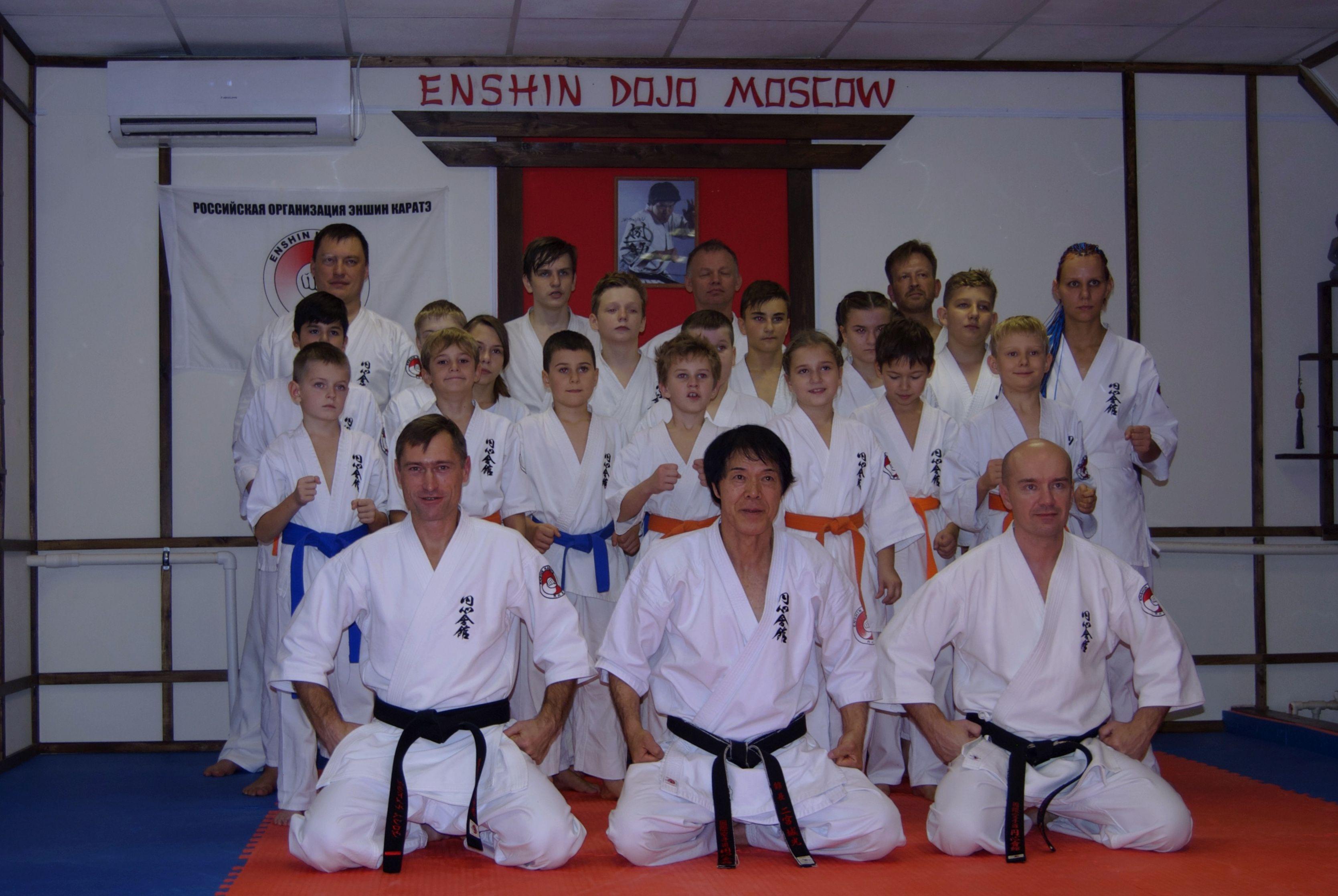 Первый ряд, слева направо: Владимир Петров, Канчо Йоко Ниномия, Антон Бодягин. Фото: Никита Нестеров
