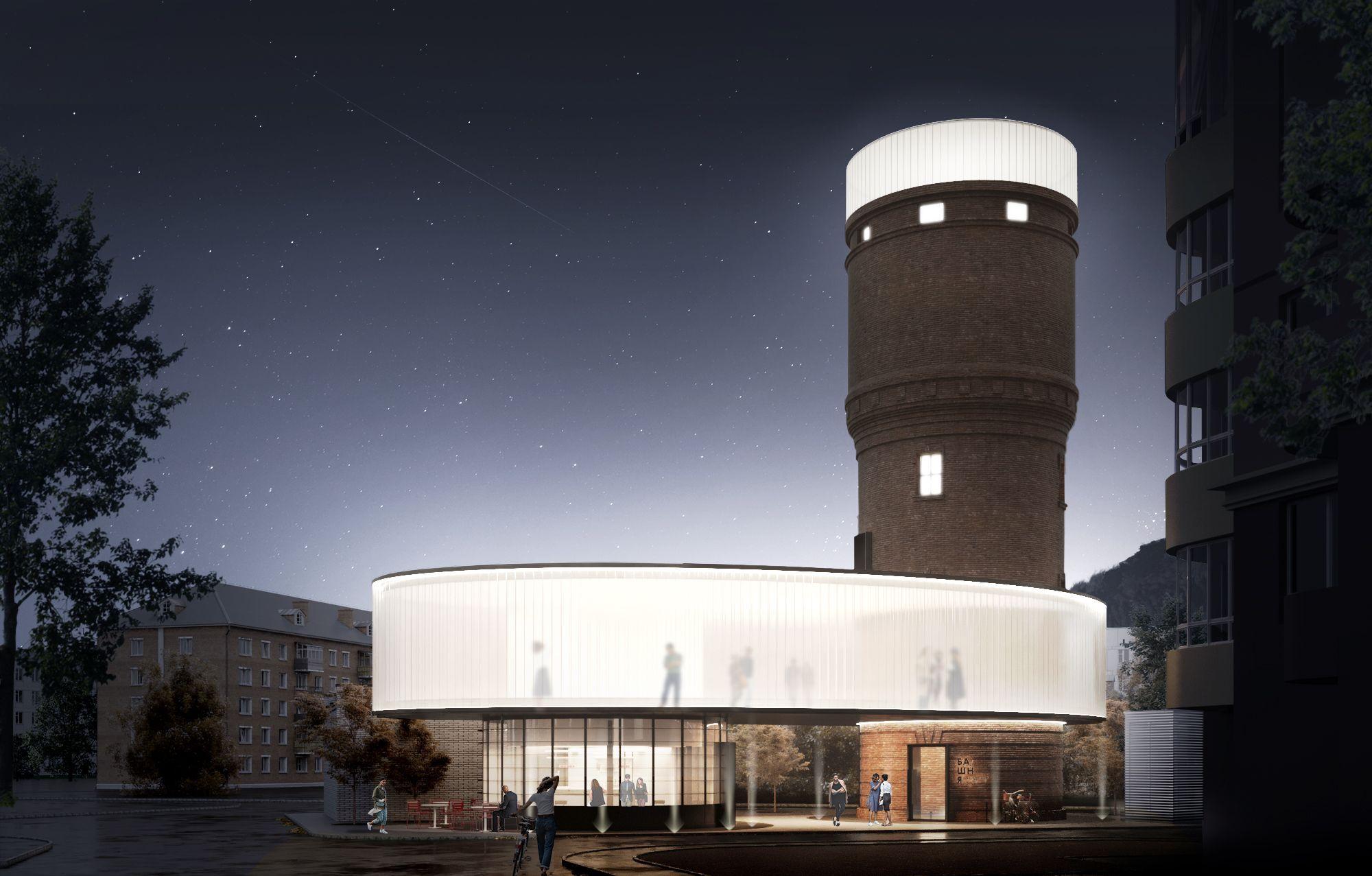 Концепция водонапорной башни в Щербинке вошла в шорт-лист престижного архитектурного фестиваля