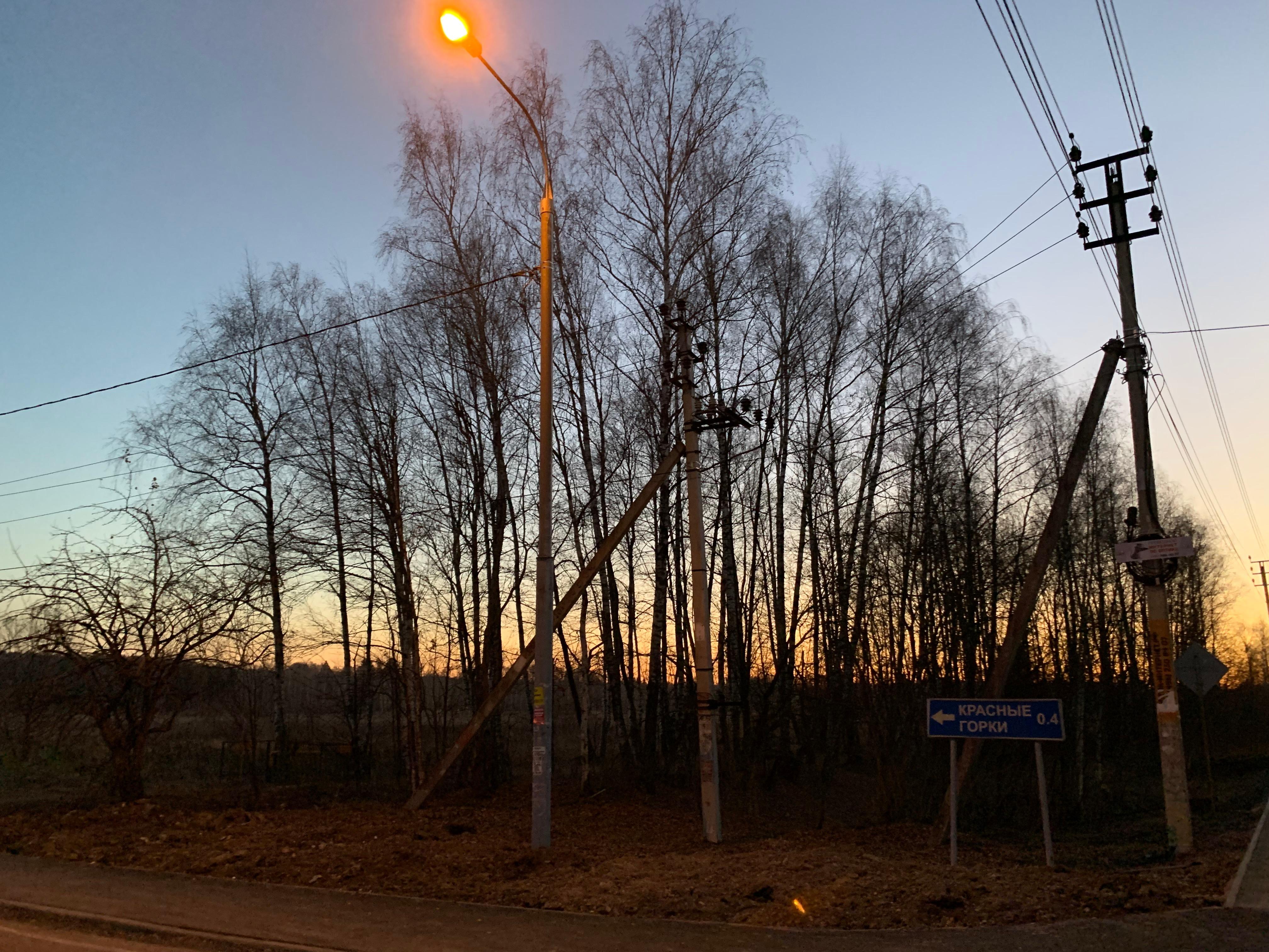 Фонари на малоосвещенных участках появились в Марушкинском