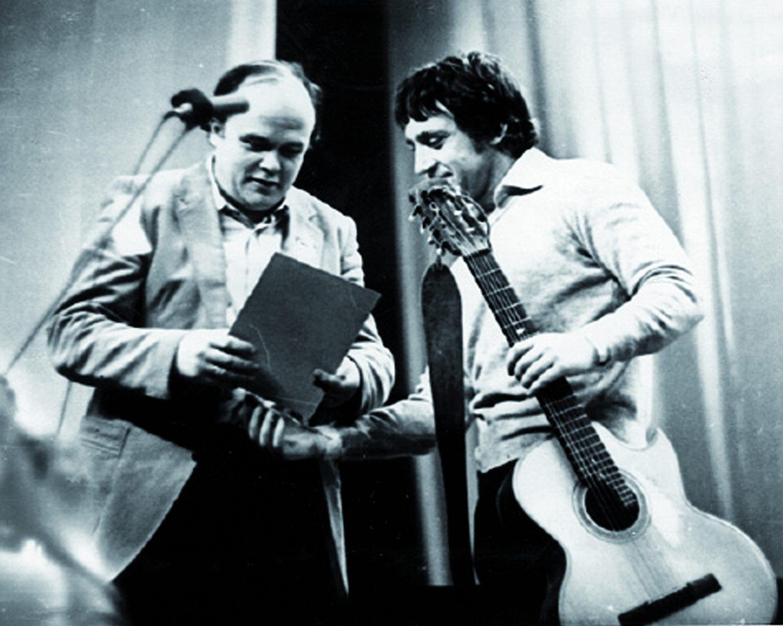 Михаил Козаков и Владимир Высоцкий. Фото: Евгений Юрасов/архив Константина Рязанова