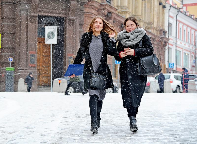 Снегопад в Москве сохранится до понедельника