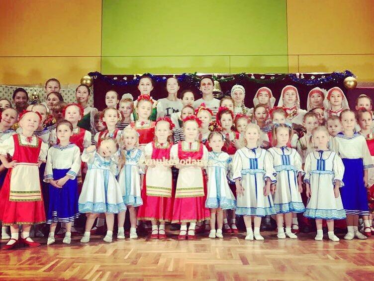 Танцы народов мира представили ребята из Внуковского