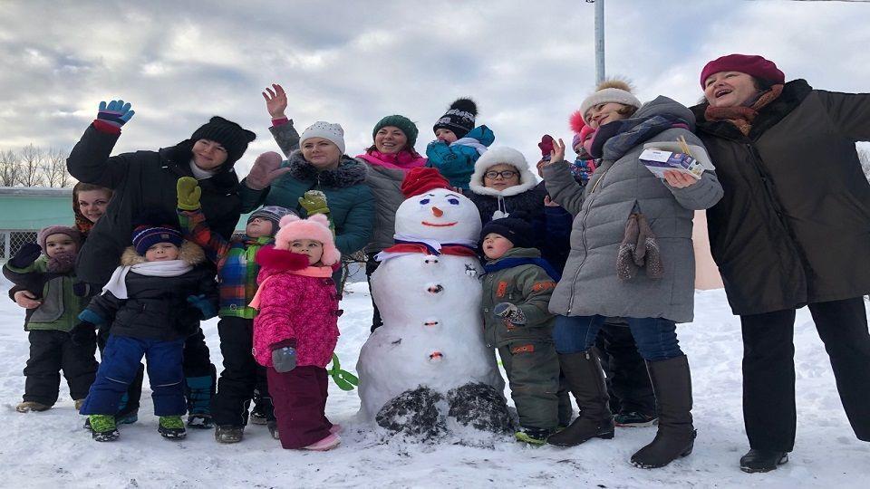 Международный день снеговика отпраздновали в поселке Шишкин Лес