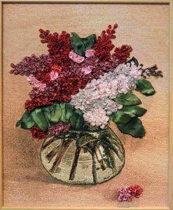 Цветы из лент. Фото: Владимир Смоляков