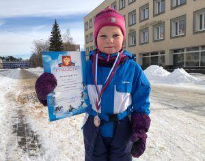 Одна из двух самых юных участниц соревнований Самыми юными участницами соревнований четырехлетняя Варвара Зонова. Фото: Анастасия Аброськина
