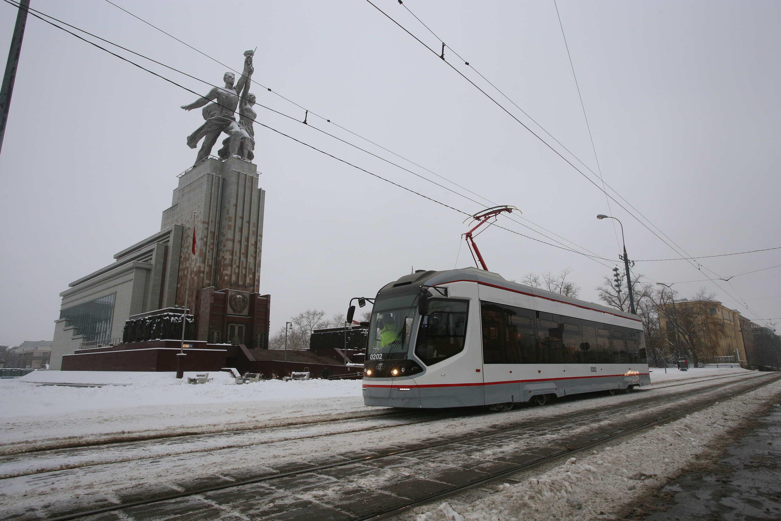 Первый беспилотный трамвай испытают на улицах Москвы