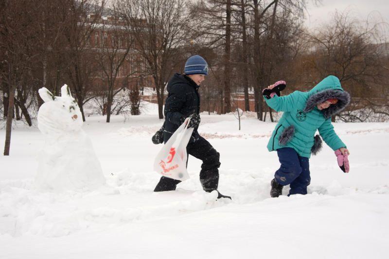 Московские сугробы подрастут на семь сантиметров