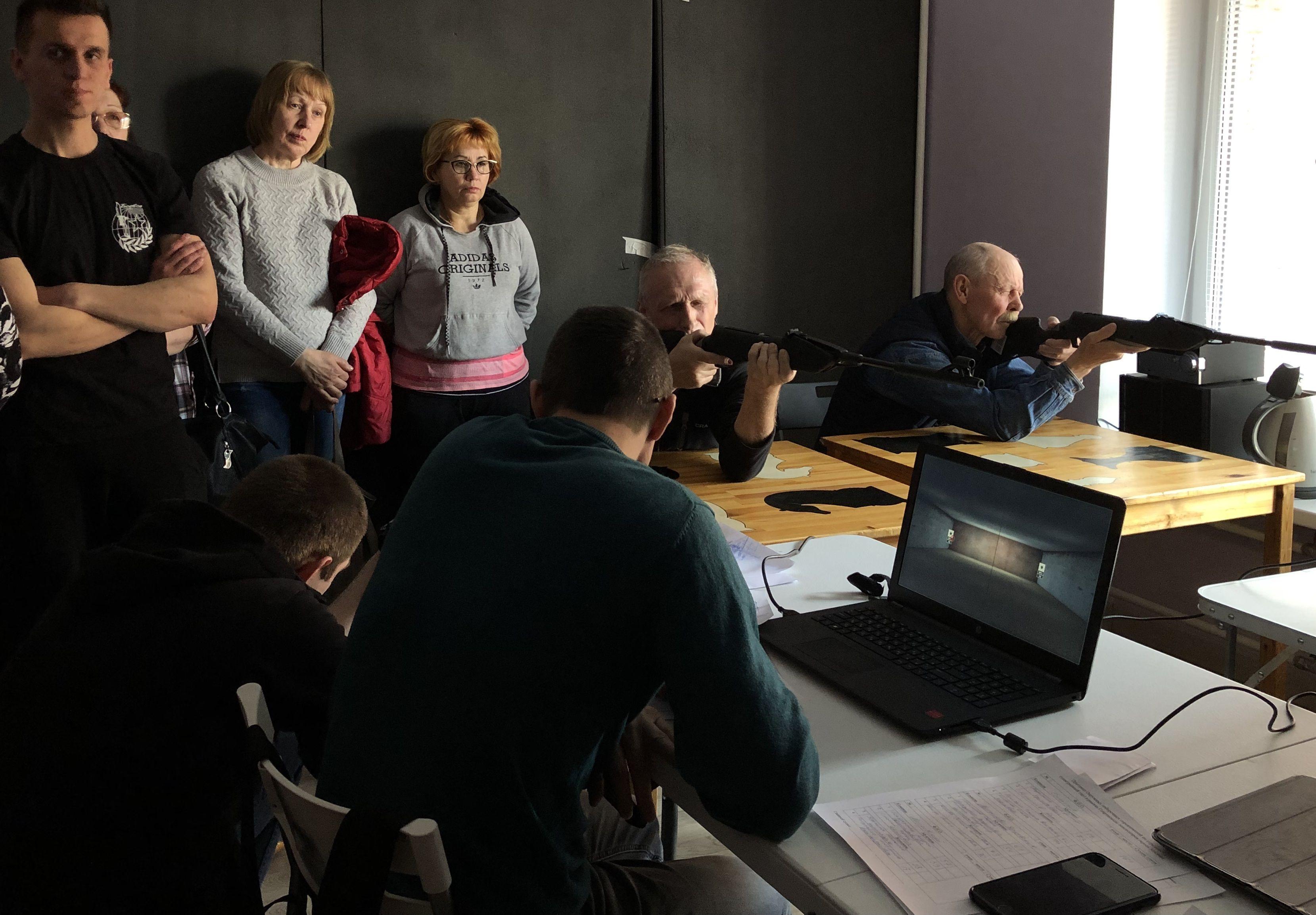 Окружные соревнования«Электронный тир»: взгляд из-за ширмы
