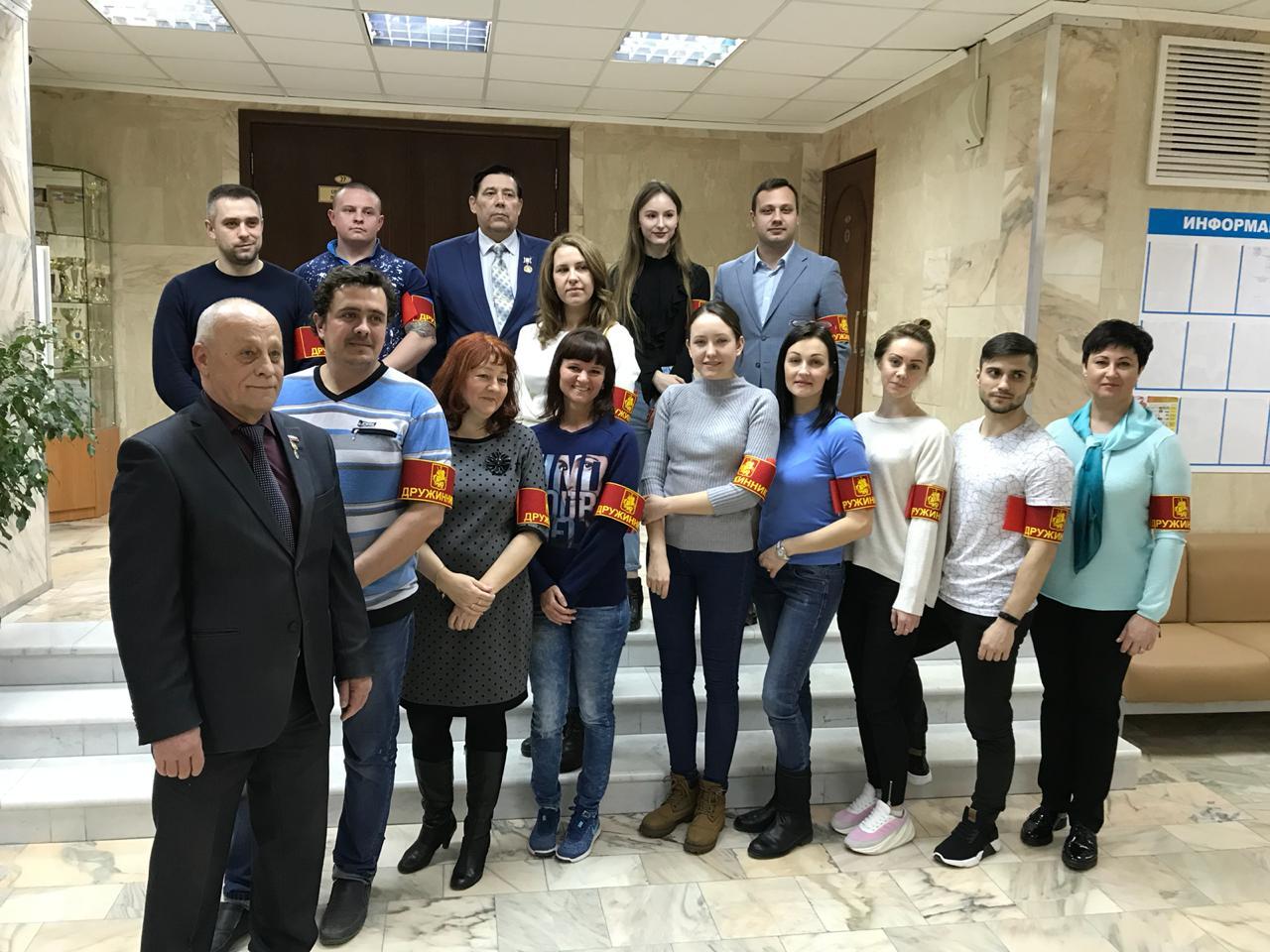 Активисты из Вороновского стали участниками Народной дружины. Фото предоставил Александр Князев