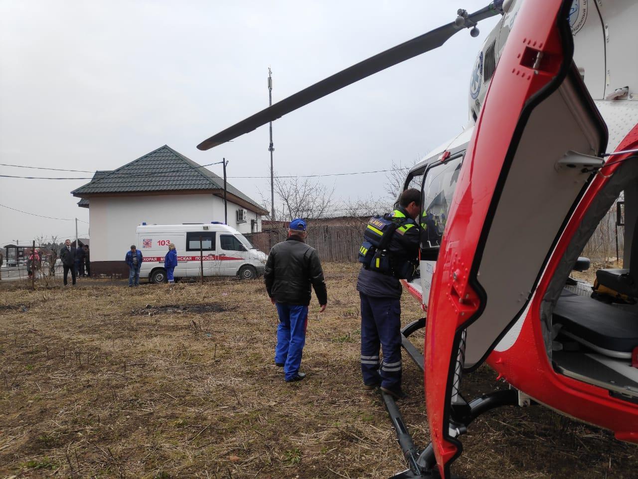 Экипаж дежурного санитарного вертолёта Московского авиационного центра вылетел по вызову в ТиНАО