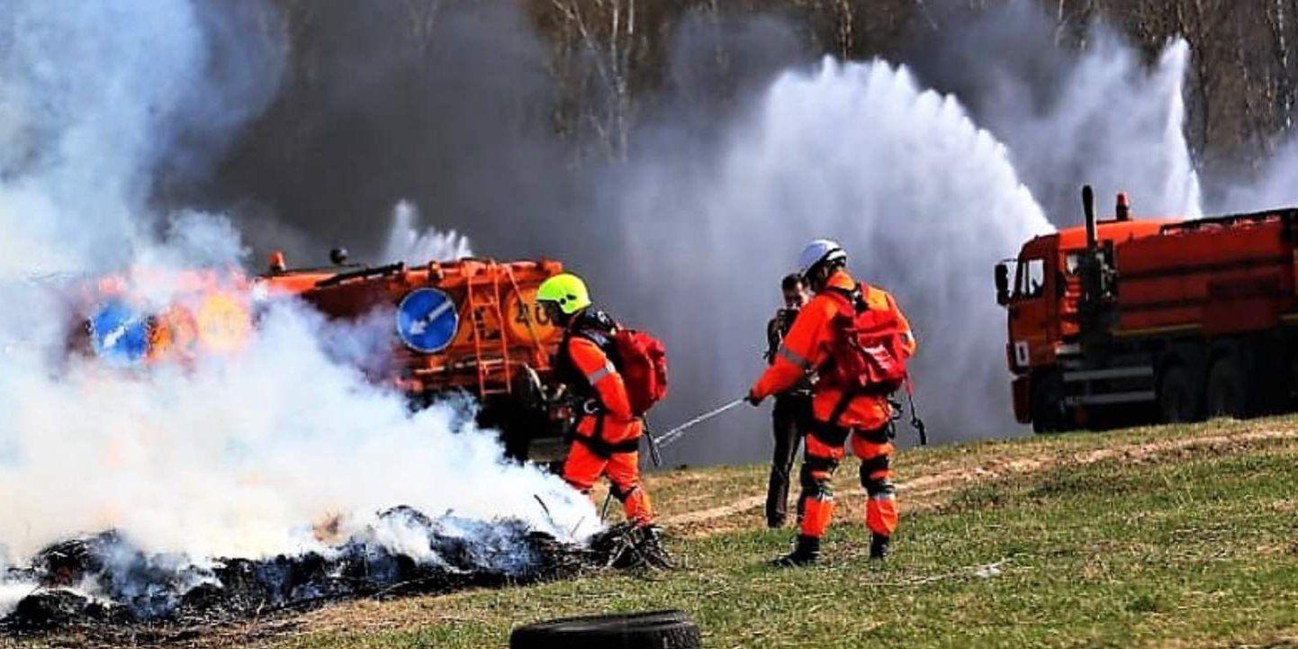 В Москве прошли учения по предупреждению крупных пожаров