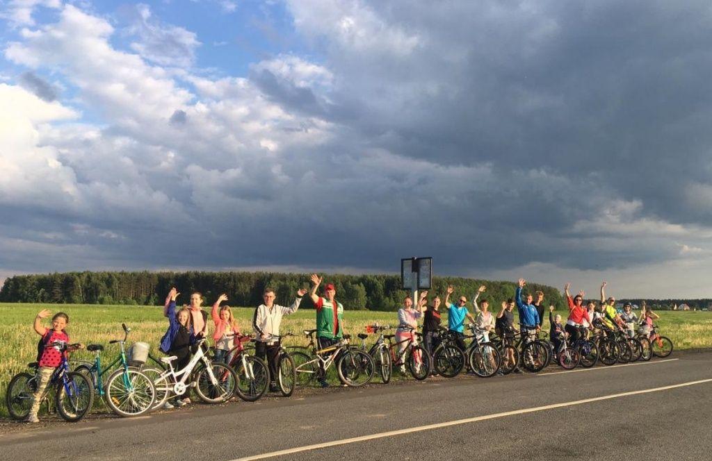 Велопробег провели ребята из Вороновского