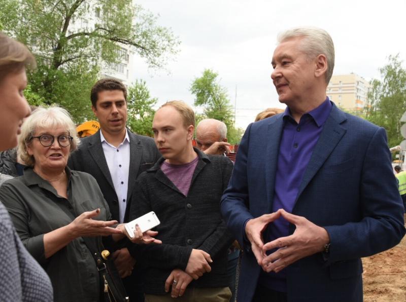 Собянин рассказал о благоустройстве Капотни по программе «Мой район»