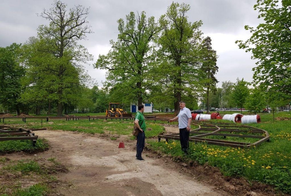 Новый этап благоустройства парка начали в Кленовском