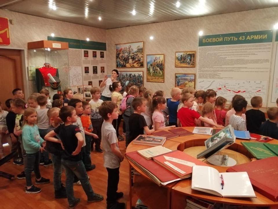 Дошкольники из Роговского посетили Музей боевой славы