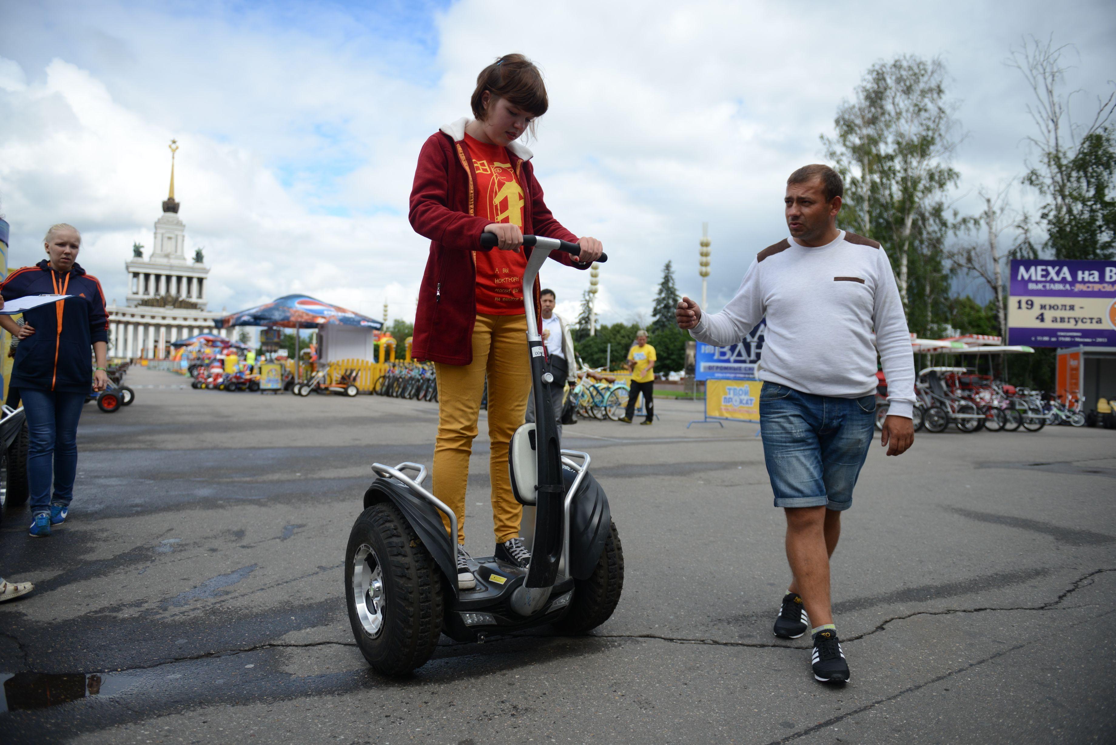 Активные москвичи смогут бесплатно арендовать сигвей или катамаран