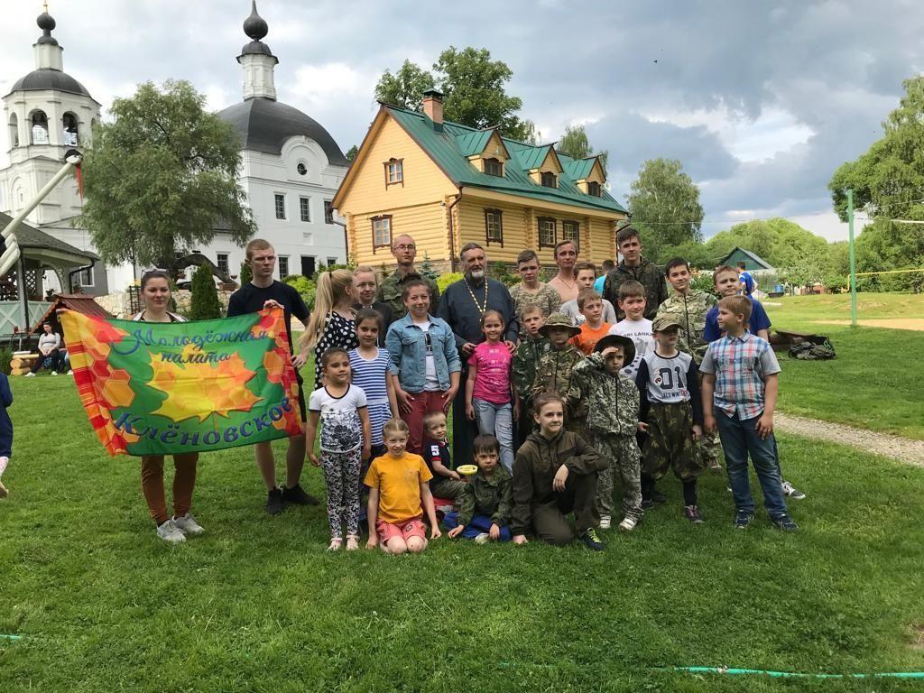 Военно-спортивные соревнования провели для детей из Кленовского