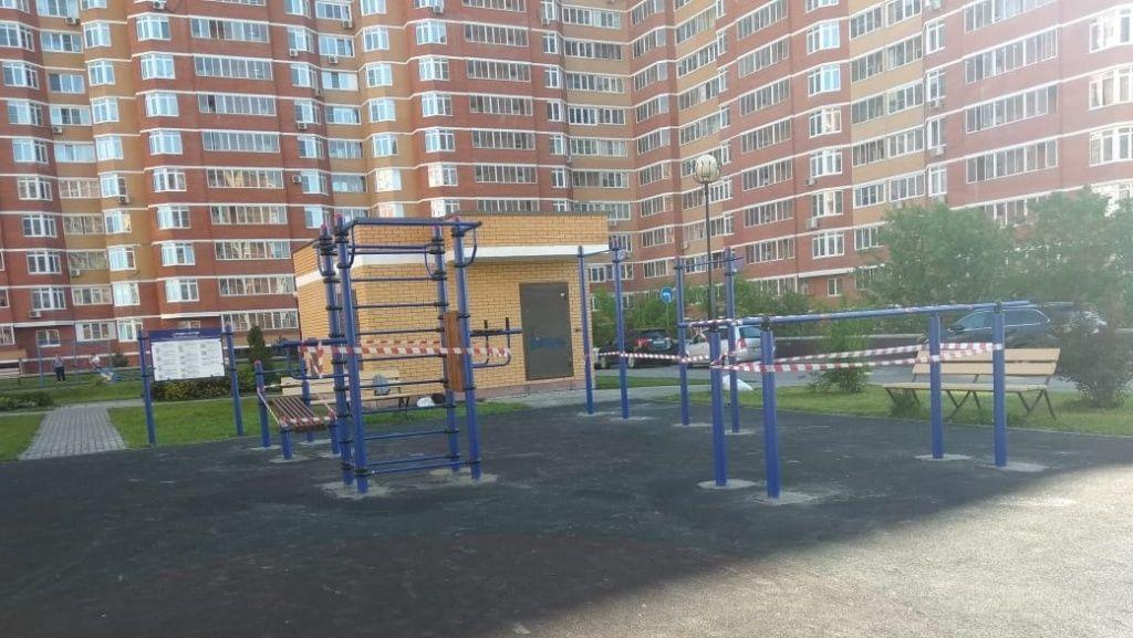 Площадку для воркаута расположили в Рязановском