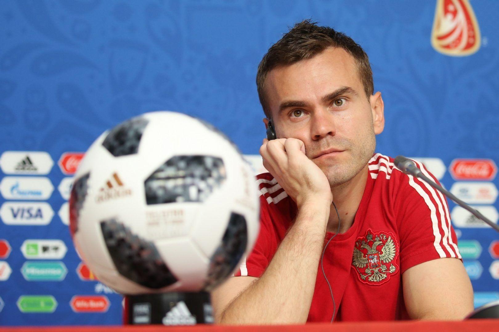 18 июня 2018 года. Акинфеев на предматчевой пресс-конференции. Фото: photoxpress