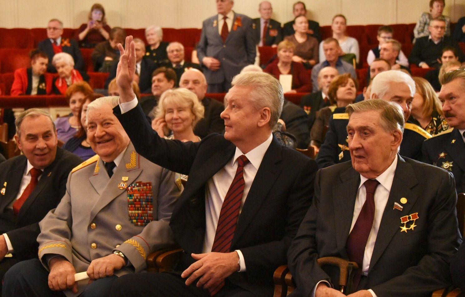 Сергей Собянин поблагодарил ветерановв памятной телеграмме