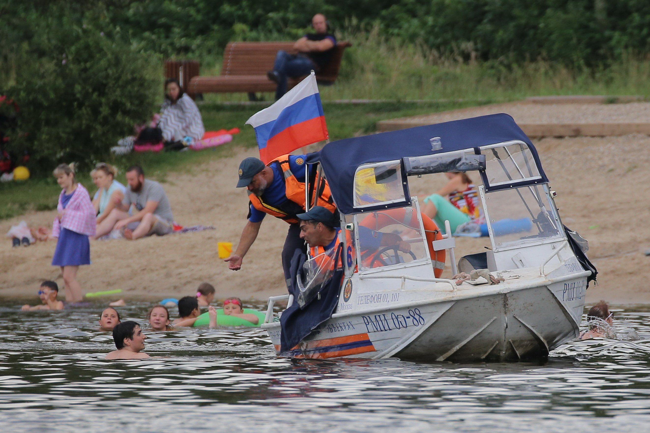Московские спасатели предупреждают: Будьте осторожны на воде в летний период