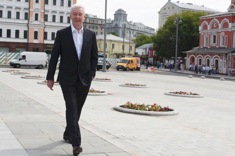 Собянин рассказал о благоустройстве главной улицы Китай-города