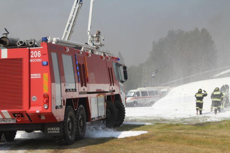 Московские пожарные приняли участие в XII Международном салоне