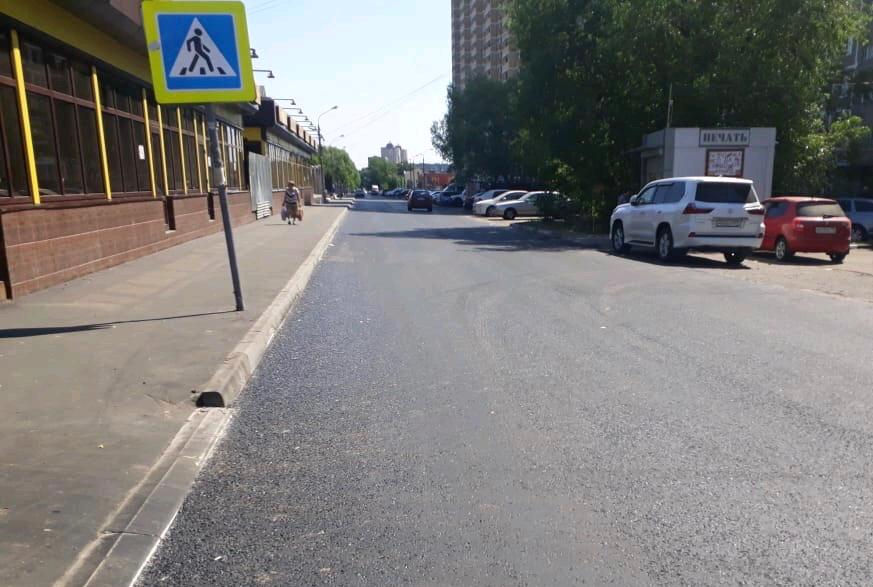 Специалисты обновили дорогу в Рязановском