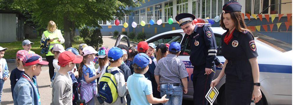 Сотрудники дорожно-патрульной службы полиции Новой Москвы провели профилактический урок в детском саду