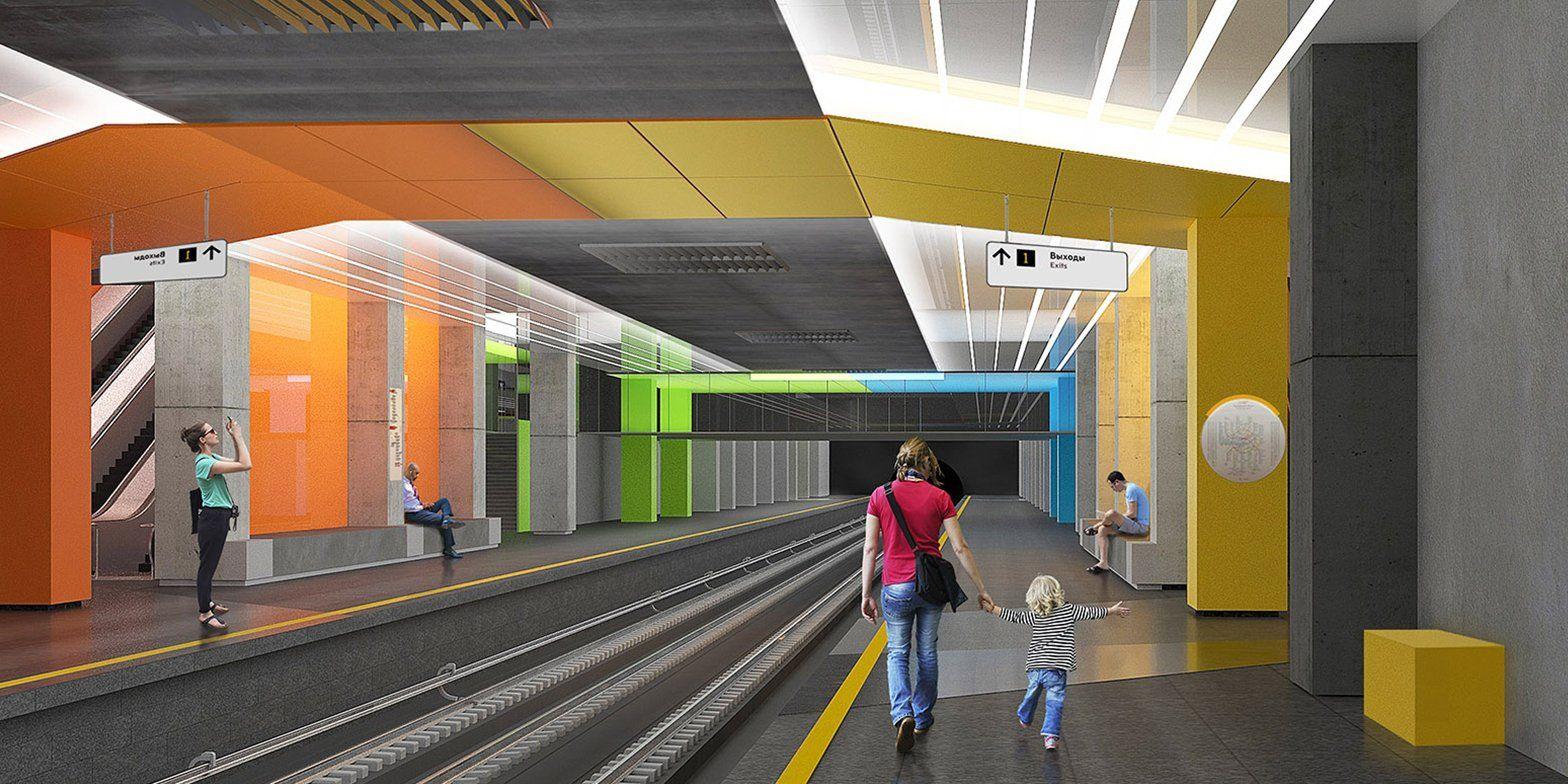 Работы Казимира Малевича повлияли на дизайн станции метро «Нижегородская»
