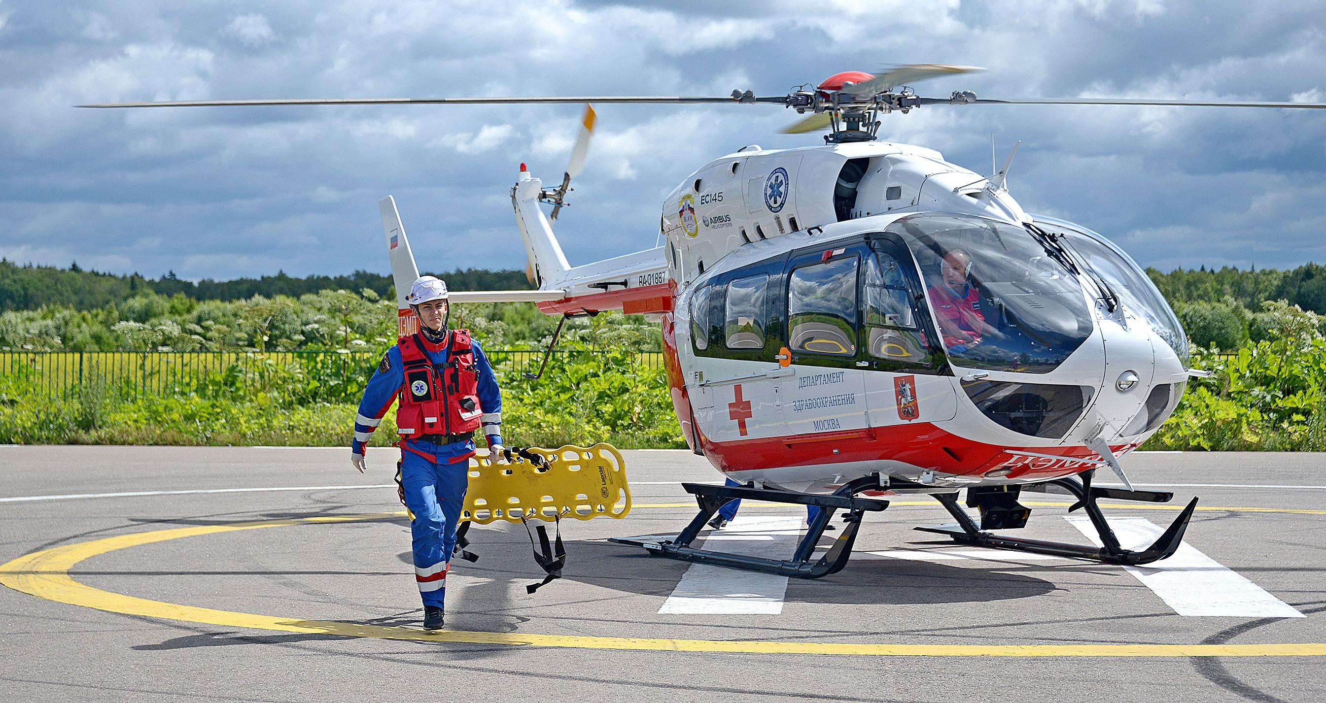 Две вертолетные площадки для экстренной госпитализации расположили в Новой Москве